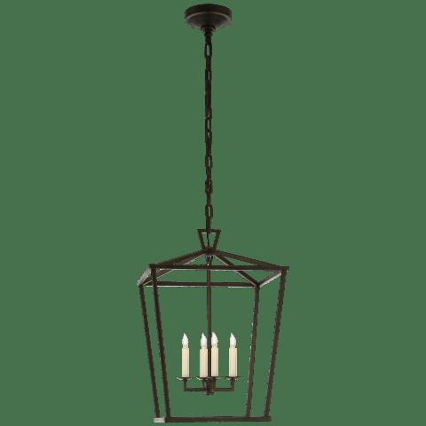 Darlana Medium Lantern in Aged Iron