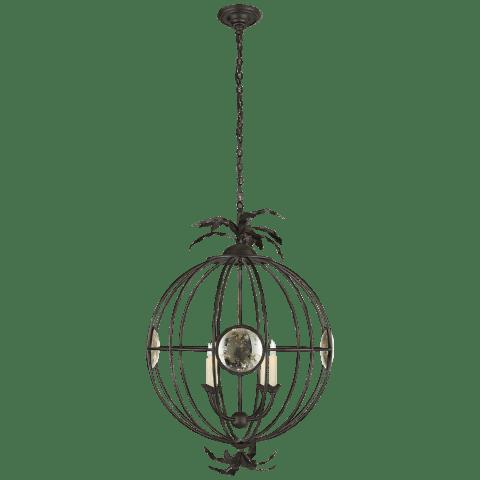Gramercy Large Globe Lantern in Aged Iron
