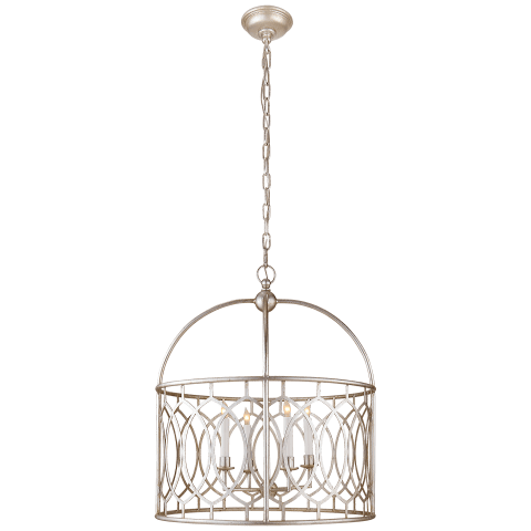 Marquise Wide Lantern in Burnished Silver Leaf