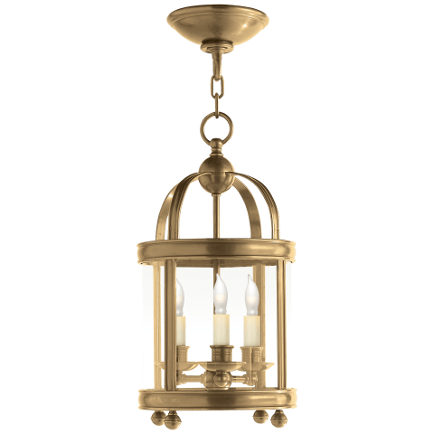 Edwardian Arch Top Mini Lantern in Antique-Burnished Brass