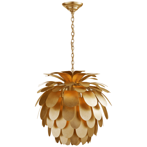Cynara Medium Chandelier in Gild