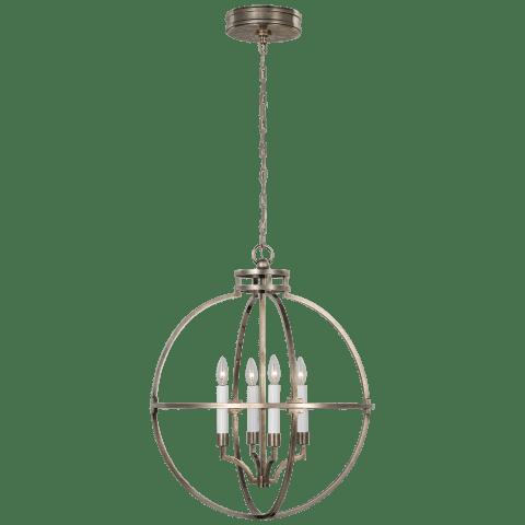 """Lexie 24"""" Globe Lantern in Antique Nickel"""