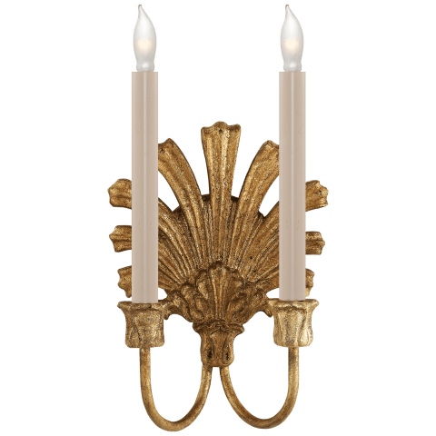 Marlborough Double Sconce in Gilded Iron