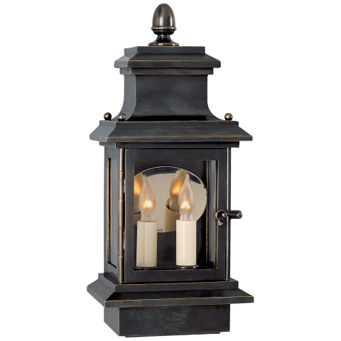Club Door Small Lantern in Bronze