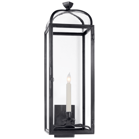 Klondike Sconce in Bronze with Clear Glass