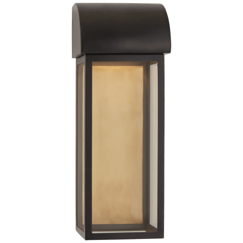 "Edgemont 18"" Wall Sconce in Bronze with Clear Glass"