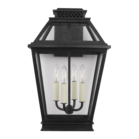 Falmouth Large Outdoor Wall Lantern Dark Weathered Zinc