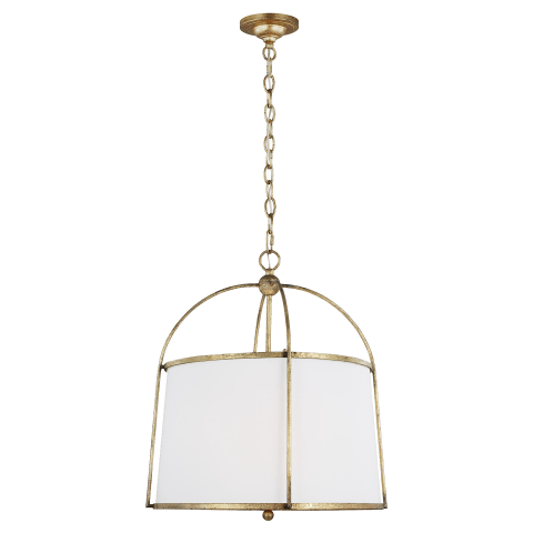 Stonington 2 - Light Medium Hanging Shade Antique Gild