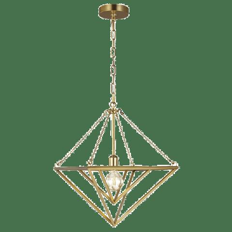 Carat Small Pendant Burnished Brass