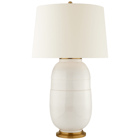 Newcomb Large Table Lamp in Ivory with Natural Percale Shade