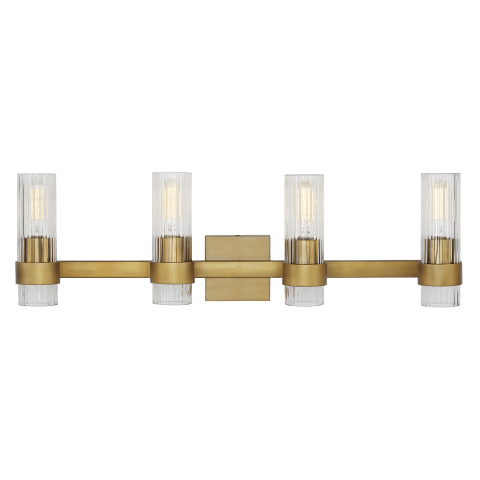 Geneva 4 - Light Vanity Burnished Brass