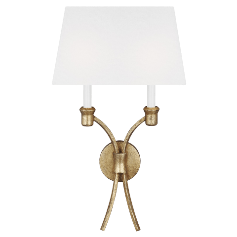 Westerly 2 - Light Wall Sconce Antique Gild