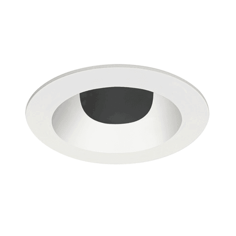 "3"" ELEMENT Round Flanged Bevel Trim, Shower, White"