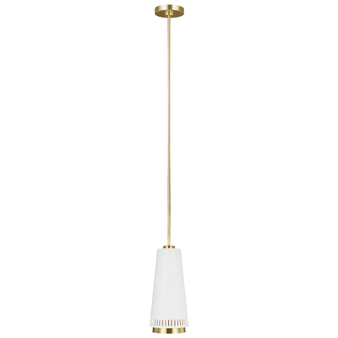 Carter Tall 1 - Light Pendant Matte White