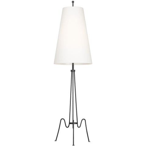Mabel 1 - Light Floor Lamp Aged Iron Bulbs Inc