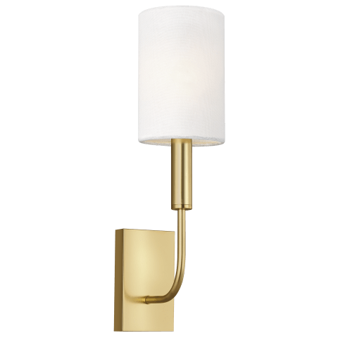 Brianna 1 - Light Wall Sconce Burnished Brass