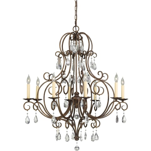 Chateau Medium Chandelier Mocha Bronze