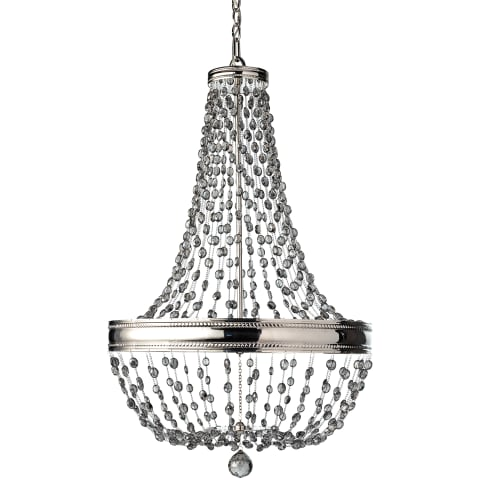 Malia 8 - Light Single Tier Chandelier  Polished Nickel