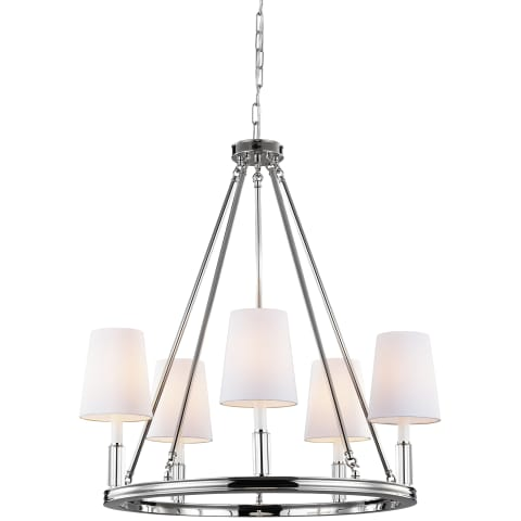 Lismore 5 - Light Chandelier Polished Nickel