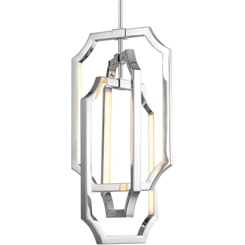 Audrie 6 - Light Chandelier Polished Nickel Bulbs Inc
