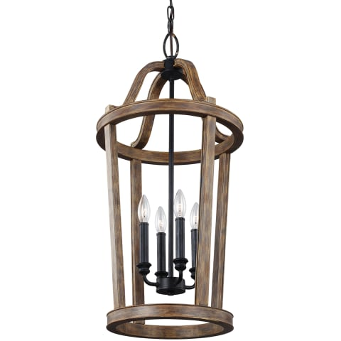 Lorenz 4 - Light Pendant Weathered Oak Wood