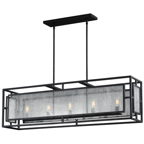 Prairielands 5 - Light Chandelier Dark Weathered Zinc