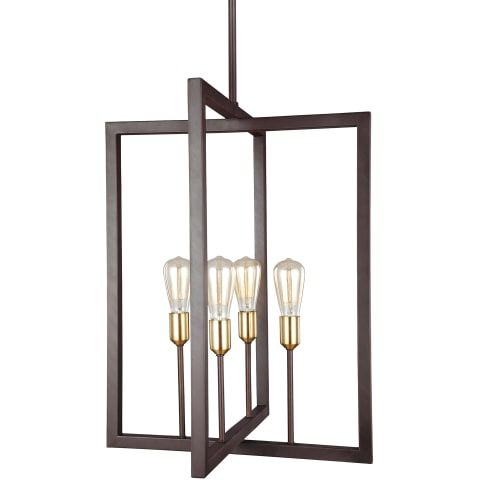 Finnegan 4 - Light Chandelier New World Bronze