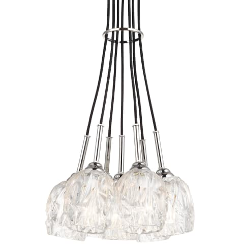 Rubin 7 - Light Cluster Chandelier Polished Nickel