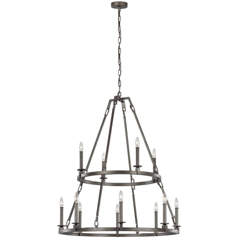 Landen 12 - Light Chandelier Smith Steel