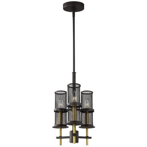 Palmyra 3 - Light Pendant Chandelier Oiled Rubbed Bronze / Burnished Brass