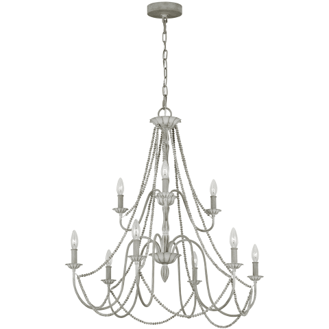 Maryville 9 - Light Chandelier Washed Grey