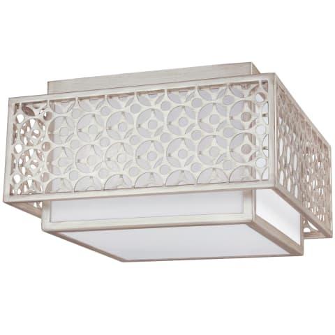 Kenney 2 - Light Indoor Flush Mount Sunrise Silver