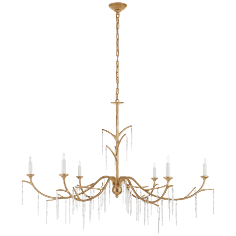 Iberia Large Chandelier in Gild and Crystal