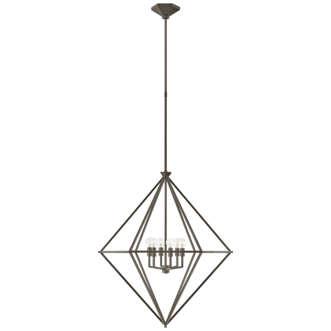 Afton Medium Elongated Lantern in Aged Iron