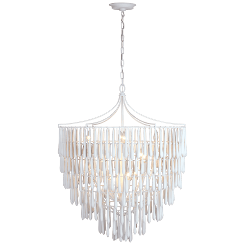 Vacarro Large Chandelier in Plaster White