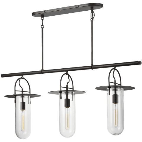 Nuance 3 - Light Linear Chandelier Aged Iron
