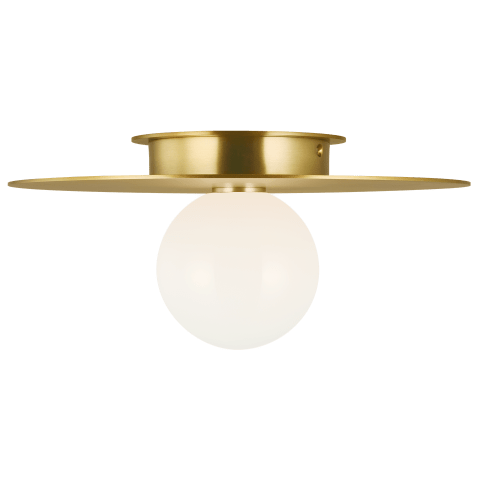 Nodes Medium Flush Mount Burnished Brass