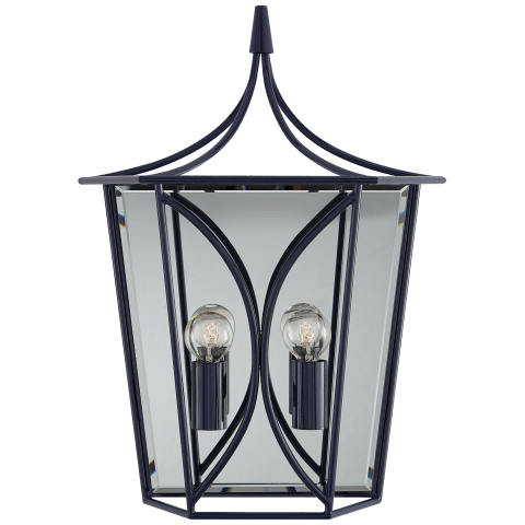 Cavanagh Medium Lantern Sconce in French Navy
