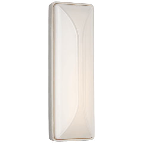 "Carmilla 14"" Bath Sconce in Polished Nickel with White Glass"