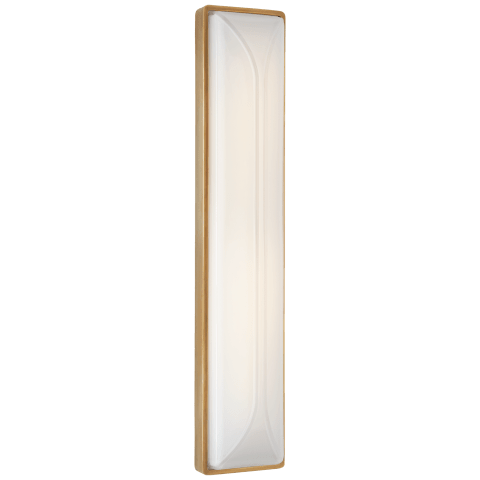 "Carmilla 24"" Bath Sconce in Soft Brass with White Glass"