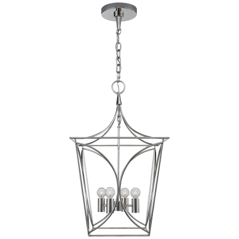 Cavanagh Small Lantern in Polished Nickel
