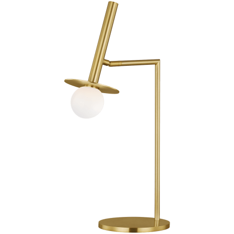 Nodes Table Lamp Burnished Brass Bulbs Inc