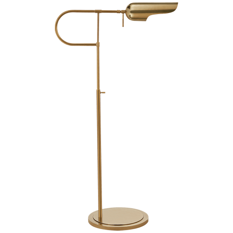 Lucien Adjustable Floor Lamp in Antique-Burnished Brass