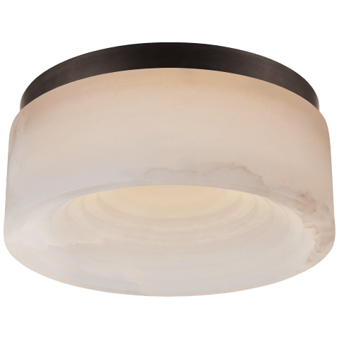 Otto Small Flush Mount in Bronze with Alabaster