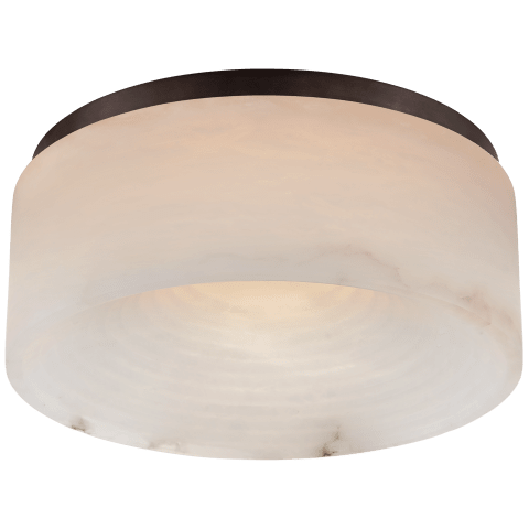 Otto Medium Flush Mount in Bronze with Alabaster