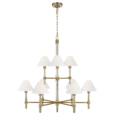 Robert Large Chandelier Time Worn Brass