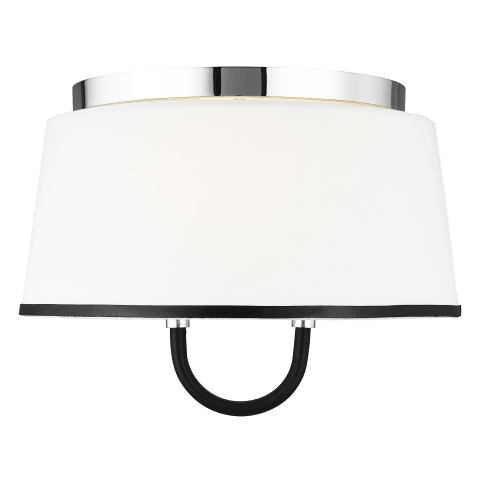 Katie Medium Flush Mount Polished Nickel