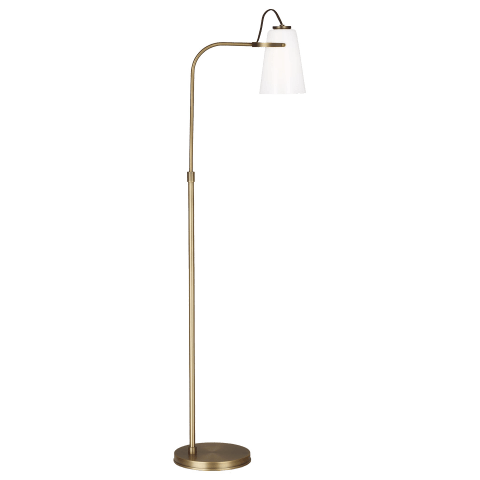 Hazel Task Floor Lamp Time Worn Brass Bulbs Inc