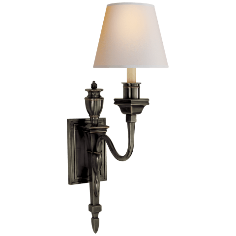Winslow Single Sconce in Bronze with Natural Paper Shade