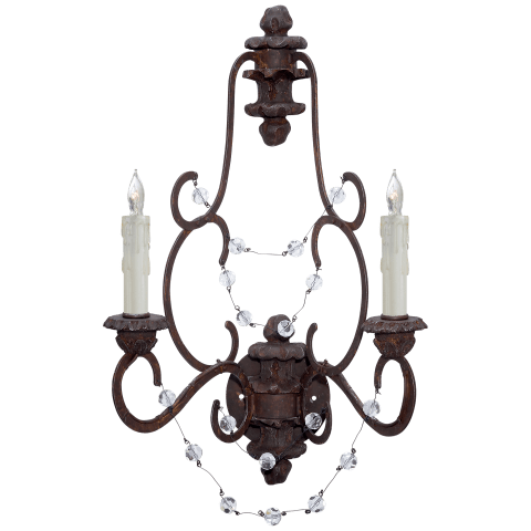 Lombardy Sconce in Rusted Steel